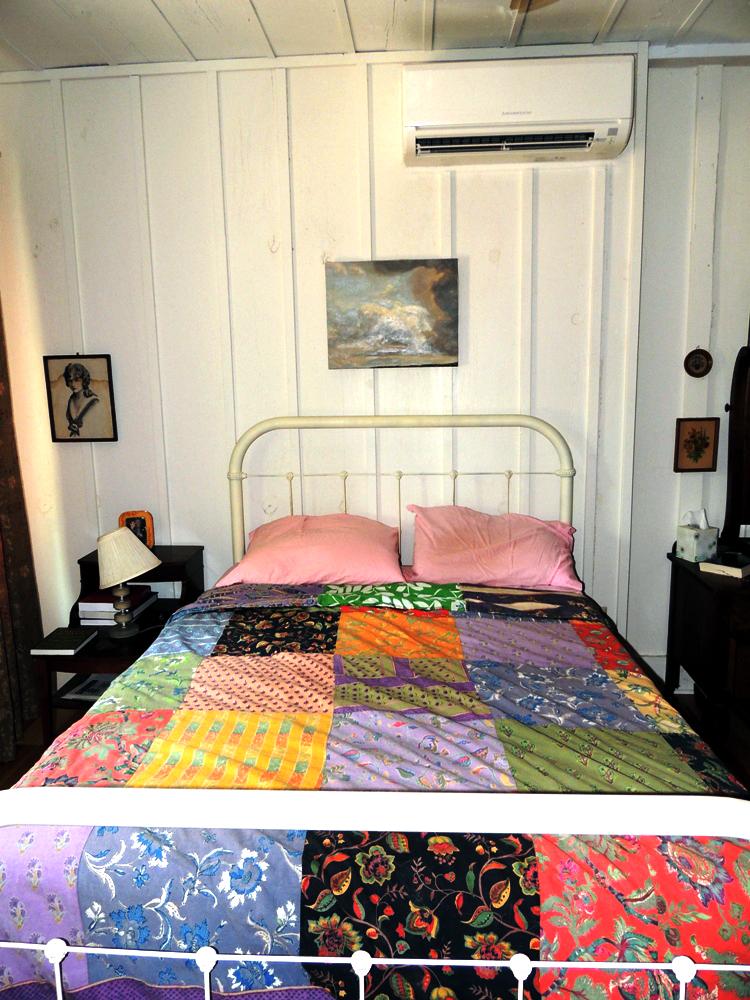 Mini split and handmade quilt