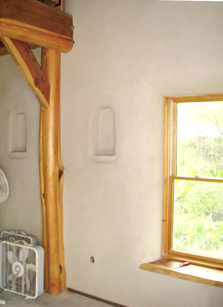 Finished Interior with Earth Plaster
