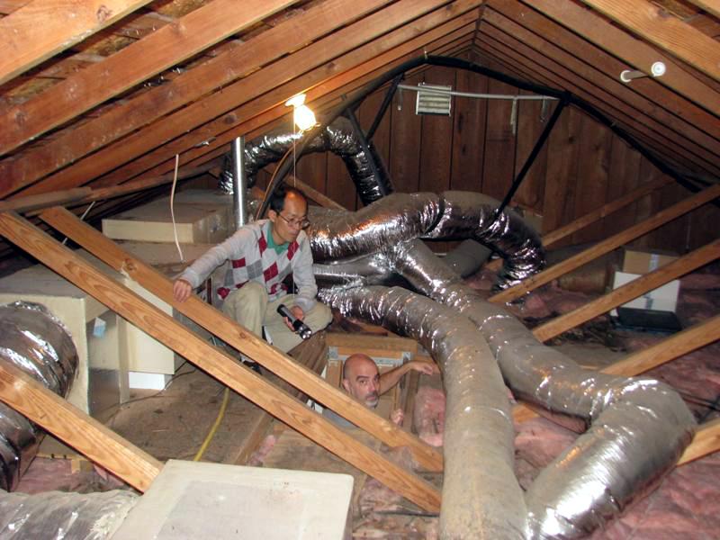 Original attic with no insulation