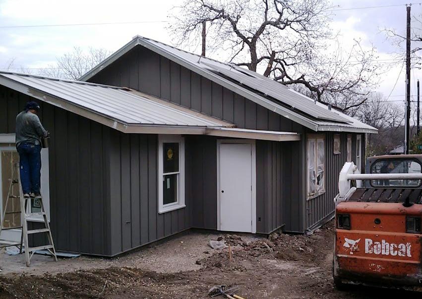 Hardie siding was adding using rainscreen technology
